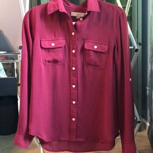 Loft size xs blouse gently used with frocket